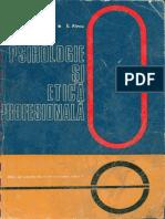 Erika Alecu  Liviu Plugaru - Psihologie si etica profesionala - 1975