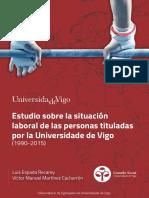 Situación laboral titulados Uvigo Cast