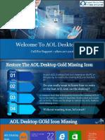 Restore AOL Icon | Missing AOL Desktop Gold Icon