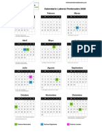 Calendario Laboral 2020 Pontevedra