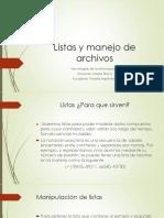 Listas y Manejo de Archivos