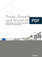 EU - Trade, Growth & World Affairs - Trade Policy as a Core Component of the EU's 2020 Strategy