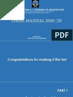 Thesis Manual 2019-20- Part 1