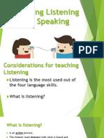 Listening Speaking
