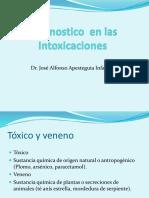 DIAGNOSTICO DE INTOXICACIONES