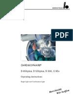 Foco - Berchtold Chromophare D-300,530,650 - User Manual