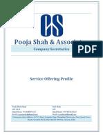 CS Service Offering- Pooja Shah & Associates