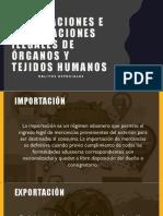 Exportaciones e Importaciones Ilegales de Órganos y Tejidos