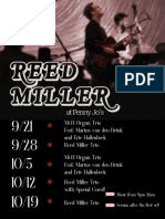 Reed Miller Trio Poster