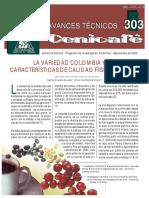 La Variedad Colombia y Sus Caracteristicas Fisicas en La Taza