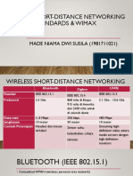 Wireless Short-distance Networking Standards & WiMAX