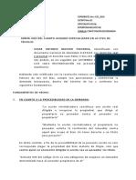 DEMANDA DE REINVIDACACIÓN