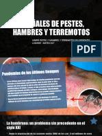 Las Señales de Pestes, Hambres y Terremotos.