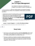 Project Management Lesson 1