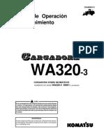 O&M WA320-3 SERIES 50001-UP