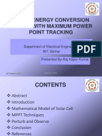 Solar Energy Conversion With Mppt Ppt in PDF