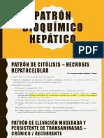 Patrones de perfil hepático alterado