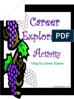 1 - Career Exploration Activity Using the Career Clusters