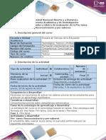 Guía de actividades y Rúbrica de evaluación - Pre-tarea - Reconocimiento y pre-saberes.docx
