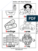 doctor hospital cut and color mini flashcards