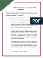 El Coaching y El Trabajo en Equipo en Las Organizaciones de La Jurisdicción