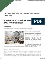 A IMPORTANCIA DA ANÁLISE DE ÓLEO PARA TRANSFORMADOR _ Datalink.pdf