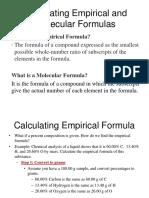 Calculating Empirical and Molecular Formulas