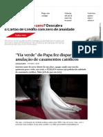 Anulação de Casamentos Católicos - PÚBLICO