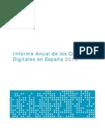 Informe anual Contenidos  Digitales España (ONTSI/Red.es) 2010