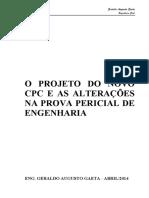 O PROJETO DO NOVO E AS ALTERAÇÕES NA PROVE PERICIAL DE ENGENHARIA.pdf