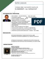 Curriculum Vitae Santiago Yansen 2020