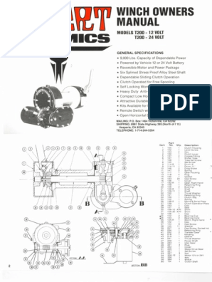 [ZSVE_7041]  Desert Dynamics T200 | Clutch | Electrical Connector | Desert Dynamics Winch Wiring Diagram |  | Scribd