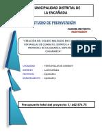 Resumen Ejecutivo Coliseo Multiusos Ventanillas de Combayo
