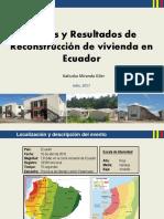 Logros y Resultados de Reconstrucción de vivienda en Ecuador