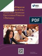 Consultas Públicas Con Sociedad Civil Guías Para Agencias Ejecutoras Públicas y Privadas
