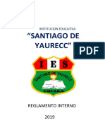 2019 Reglamento Interno