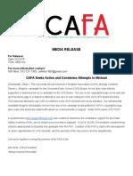 Cincinnati African-American Firefighter Association release