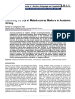 Examining the Use of Metadiscourse Markers in Academic Writing