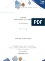 Unidad 1 Primera Fase - Formulación