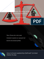 Females Working in a Male Dominated Position