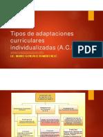 Tipos de adaptaciones curriculares individualizadas