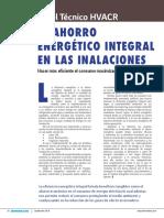 El Ahorro Energético Integral en Las Instalaciones