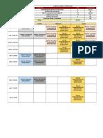 Horario de Clases - Class Schedule q1-2019-2020