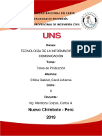 TRABAJO DE PRODUCCIÓN - TIC