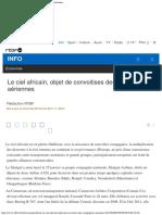 Le Ciel Africain, Objet de Convoitises Des Compagnies Aériennes