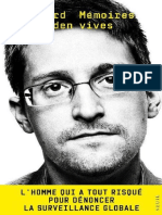 Edward Snowden Memoires Vives