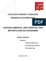 Auditoria Ambiental Tren Metropolitano
