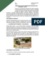 Planta de Tratamiento de Aguas Residuales San Jeronimo