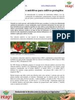 02. Las Soluciones Nutritivas Para Cultivos Protegidos