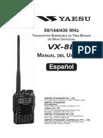 Manual talkie yaesu vx-8r